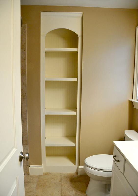 How to design a bathroom remodel - Gregory Construction Custom Bathroom Storage Gregory